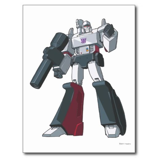 Shop megatron 1 postcard created by transformers