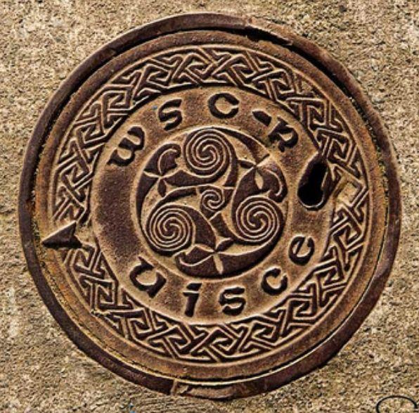 Ireland Manhole cover, even these are pretty!