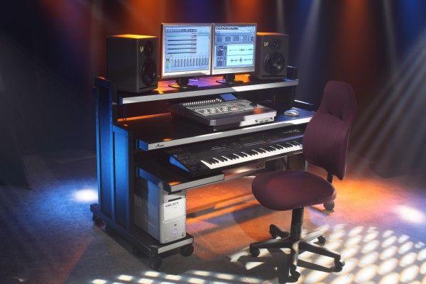 M Rack Recording Studio Furniture, 2.8SS Slim Synth Station