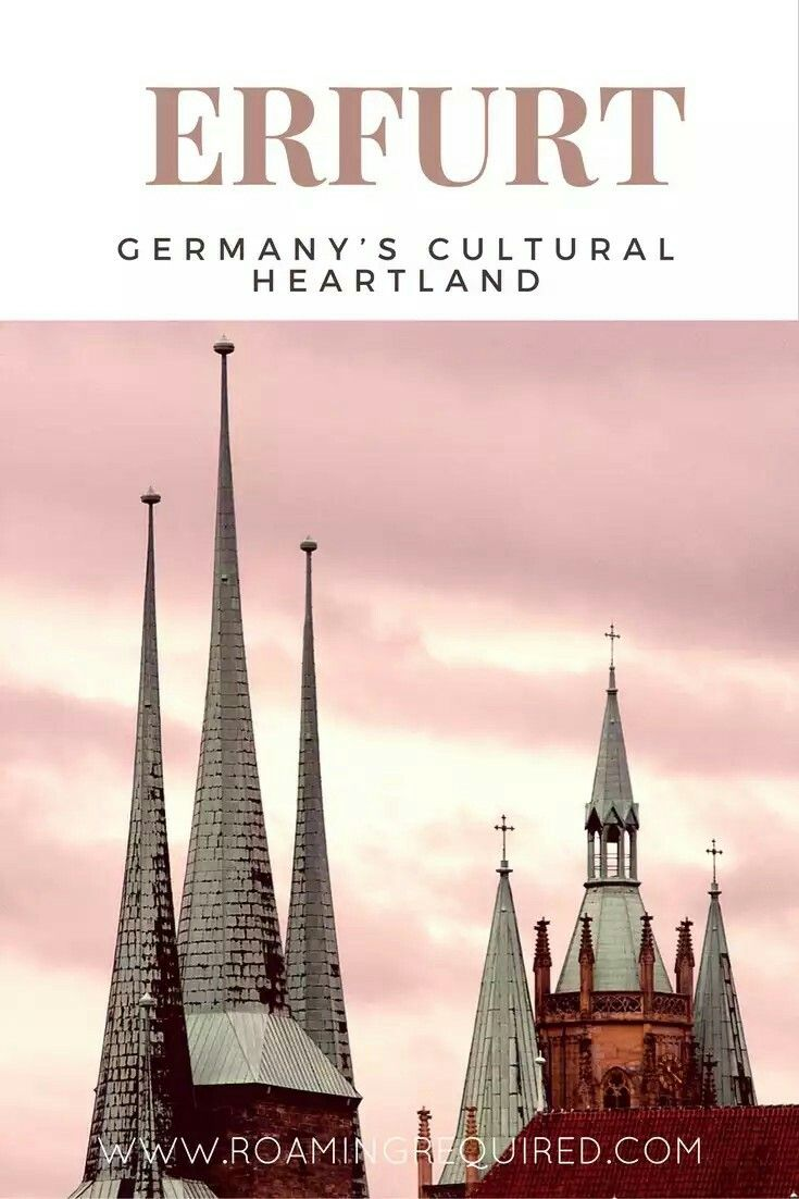 Have heard of Germany's Thuringia region? Erfurt is the capital city and full of history and culture. Definitely a must-visit