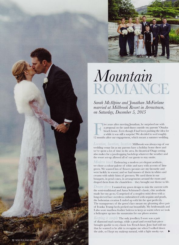 Sarah's dream wedding has been featured in a @nzweddings three page spread. It's a stunning Queenstown wedding with amazing setting and exquisite details. Check out all the photos here: http://www.annaschimmel.co.nz/real-wedding-featured-in-nz-weddings/ #real #wedding #NewZealand #autumn