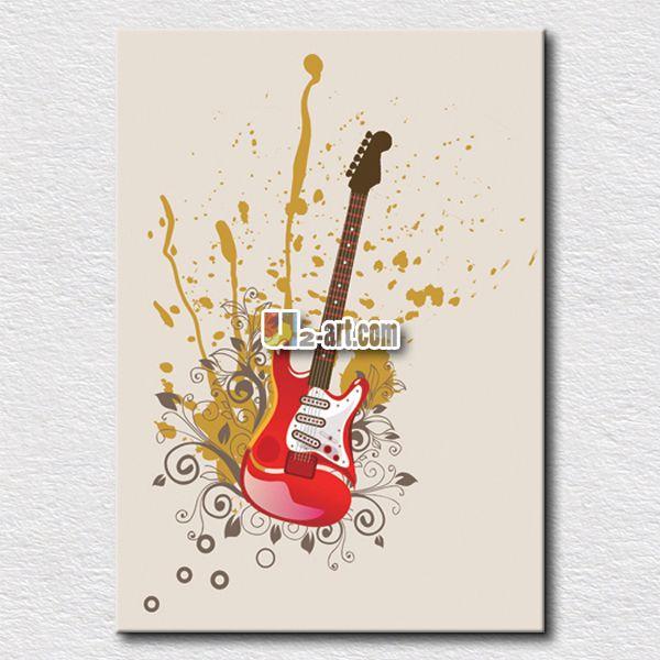 Современная картина картины гитары отпечатки на холсте повесить на спальни уникальный подарок для детей на пути к их интерес
