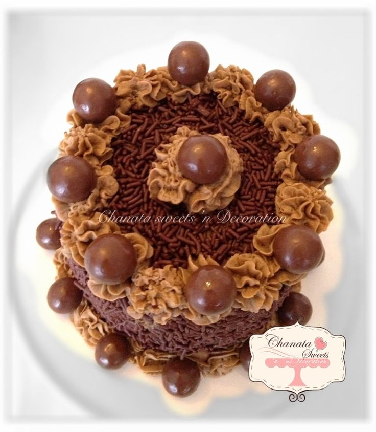 Classic Chocolate cake with mocha rum buttercream sprinkle with ...