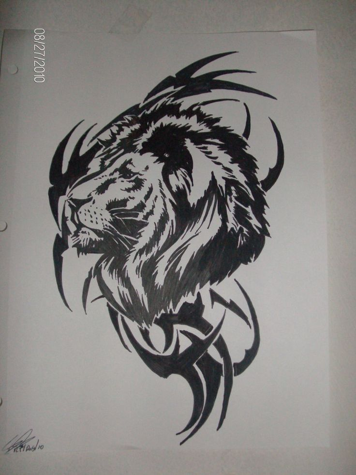Lion with dreads tattoo drawings - photo#44