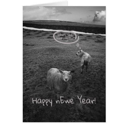 Happy nEwe Year - New Year pun Card - New Year's Eve happy new year designs party celebration Saint Sylvester's Day