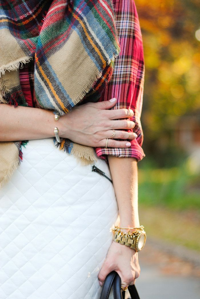 plaid with quilted
