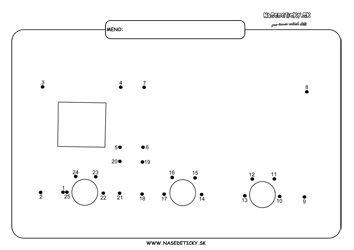 Spájame bodky. Nákladné auto. - Aktivity pre deti, pracovné listy, online testy a iné