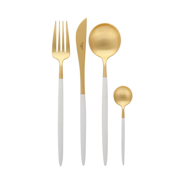 Discover+the+Cutipol+Goa+Matt+White+Gold+24+Piece+Cutlery+Set+at+Amara