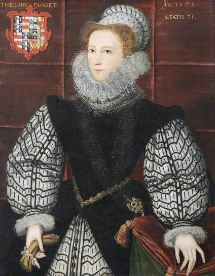 Nazareth Newton (1547–1589), Lady Paget. Great great granddaughter of Anthony, Earl Rivers, brother of Elizabeth Woodville. Distant relative of Georgiana Duchess of Devonshire: both their mothers were of the Poyntz family.  Daughter of 1st marriage became Robt Dudley's mistress & mother of Walter Devereux.  2nd marriage to Lord Paget miserable, ending in separation.Son married gt granddaughter of Mary Boleyn.