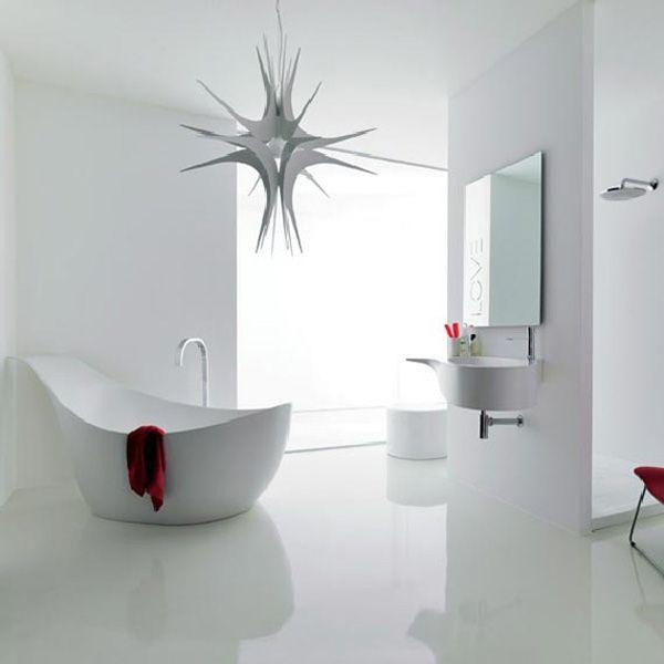 Wonderfull White Bathroom Desigh With Novello Furniture