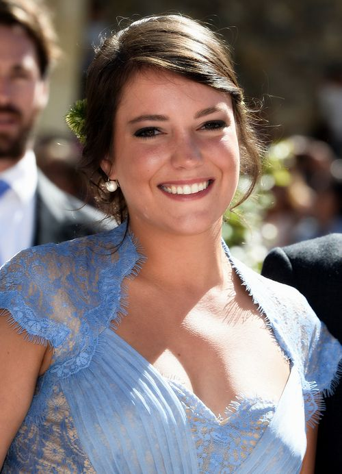 misshonoriaglossop:  Religious wedding of Prince Felix and Princess Claire of Luxembourg, France, September 21, 2013-the groom's sister Princess Alexandra was a witness at the civil ceremony and a bridesmaid at the religious ceremony