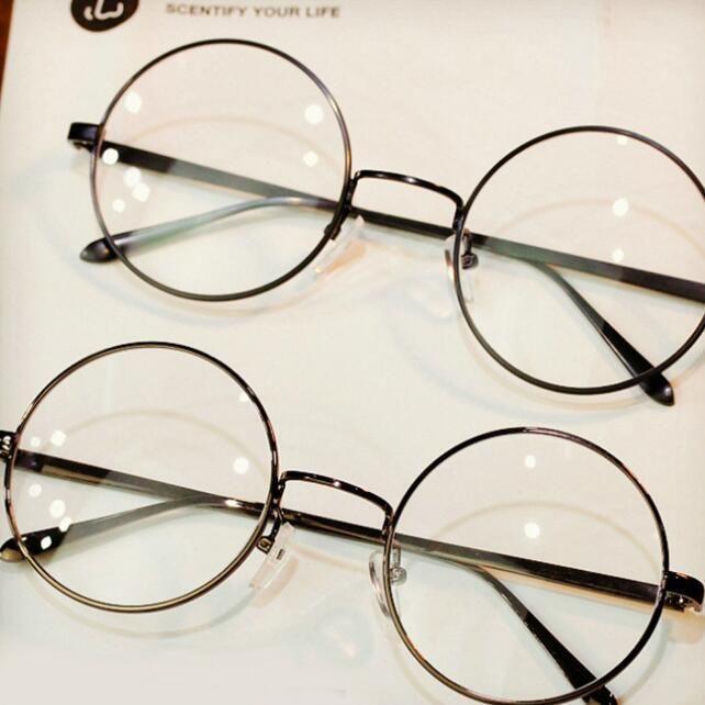 9d89dbba230 Big Round Metal Glasses Frame Women Men Retro Eyewear Fashion Ultra Light  Brand Designer Sun Glasses Circle Eyeglasses 8890