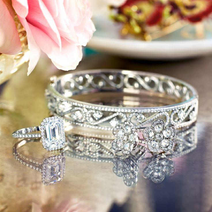 f734fc7dc ... garden glamour tiffany soleste® ring with an emerald cut diamond tiffany  enchant; tiffany garden earrings ...