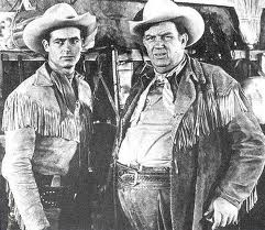 """""""Hey Wild Bill, wait for me!""""  Wild Bill Hickock and Jingles played by Guy Madison and Andy Devine."""