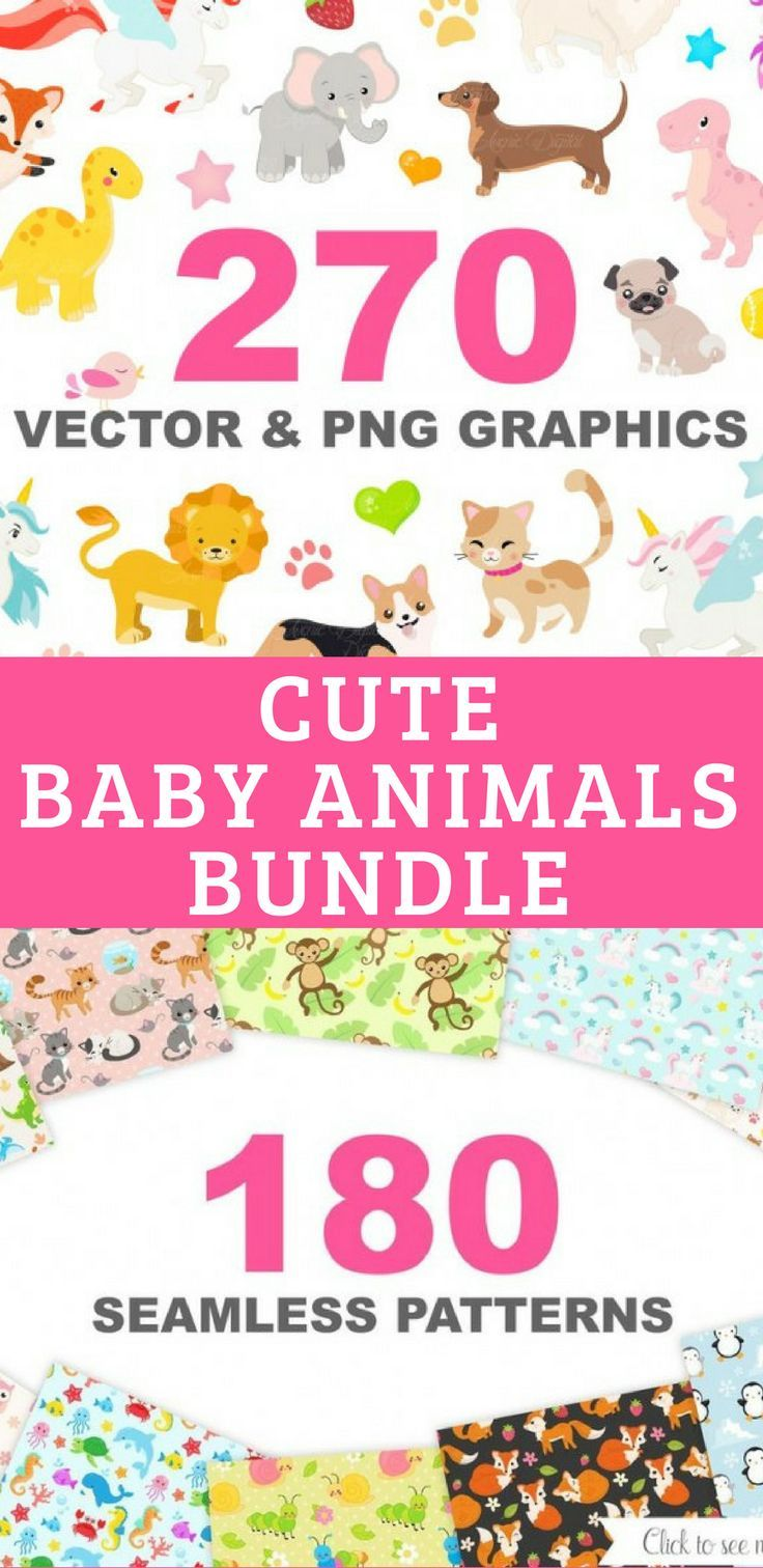 cute baby animals clip art graphics and digital papers patterns rh pinterest com