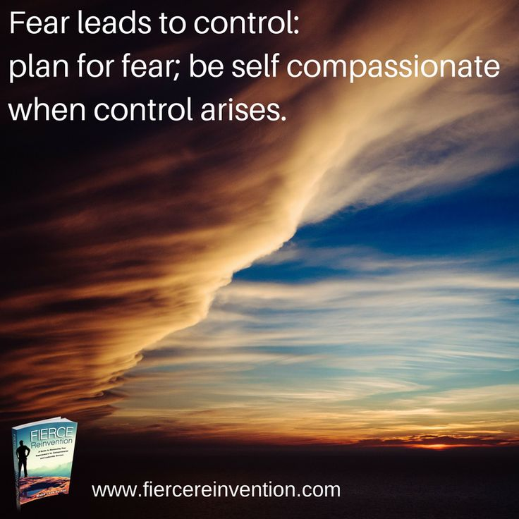 How do you deal with fear?