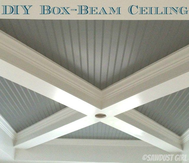 How to Build a Box Beam Ceiling.  I want this for my dining room.
