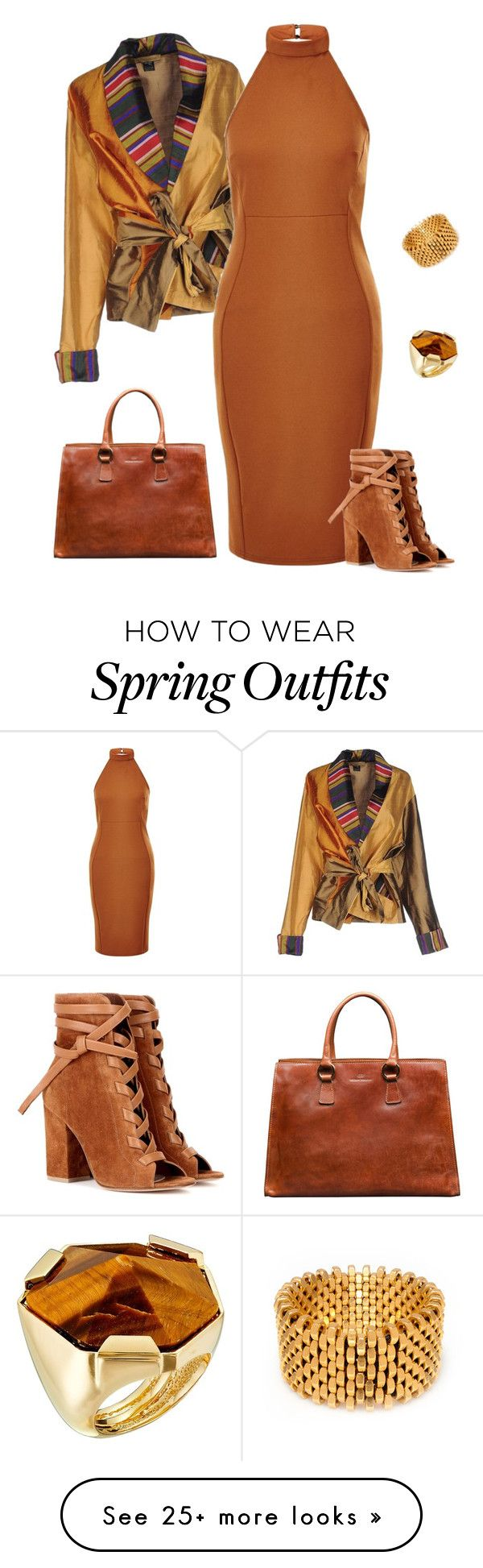 """outfit 3531"" by natalyag on Polyvore featuring Gianvito Rossi, Alice Menter and Vince Camuto More"
