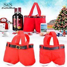 top kwaliteit kerst cadeaus decoratie kerst bruiloft snoep zakken mooie santa geschenken voor kinderen broek 20 x 18 x 5cm 62(China (Mainland))