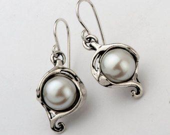 Sale Cabochon 925 Sterling Silver Earrings by SilverLinningsJewels