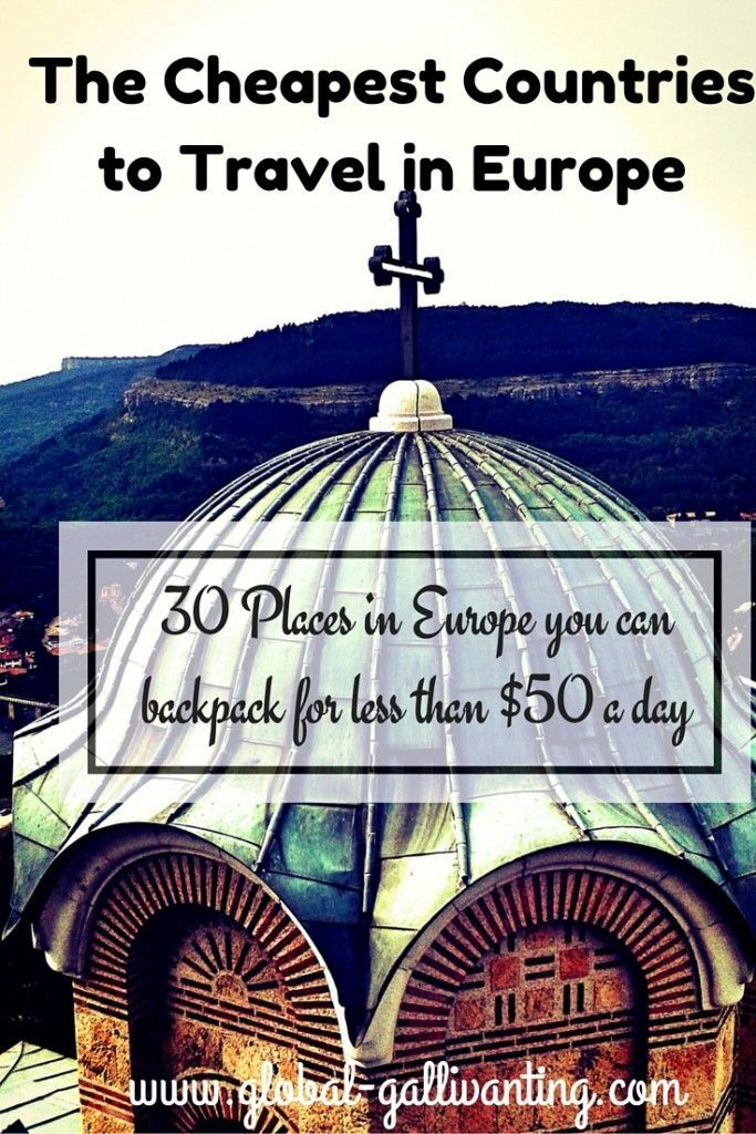 Europe is not known as the most budget friendly place to travel but, espcially if you head to Eastern Europe, there are plenty of less visited and less expensive places to enjoy in Europe. Here are 30 places in Europe that you could backpack for less than $50 a day!