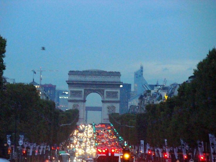 Arc de Triomphe at night - 2013