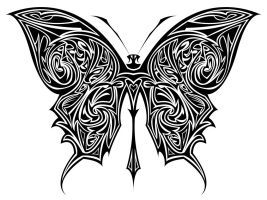 Butterfly Tribal by WebGrillo