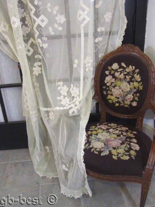 Exquisite Tambour Battenberg Net Lace Antique Coverlet Bedspread Connecticut Est | eBay