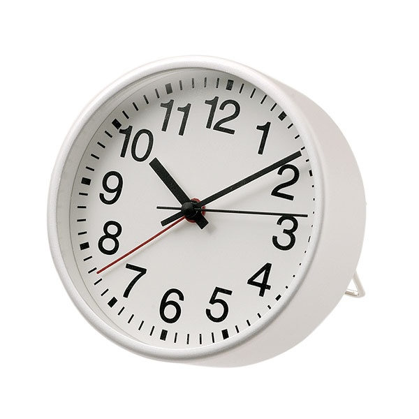 Aluminium alarm table clock [4548076853411]