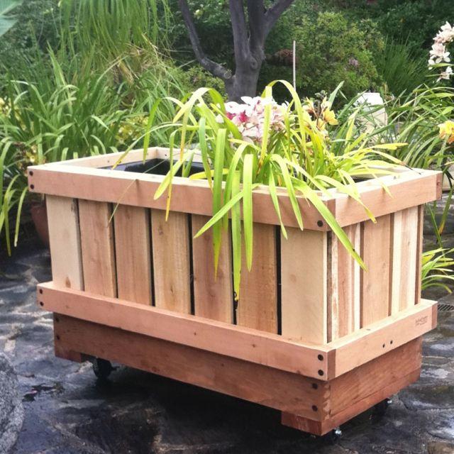Rolling Planter Sanctuspheres Rolling Raised Bed Flower Vegetable