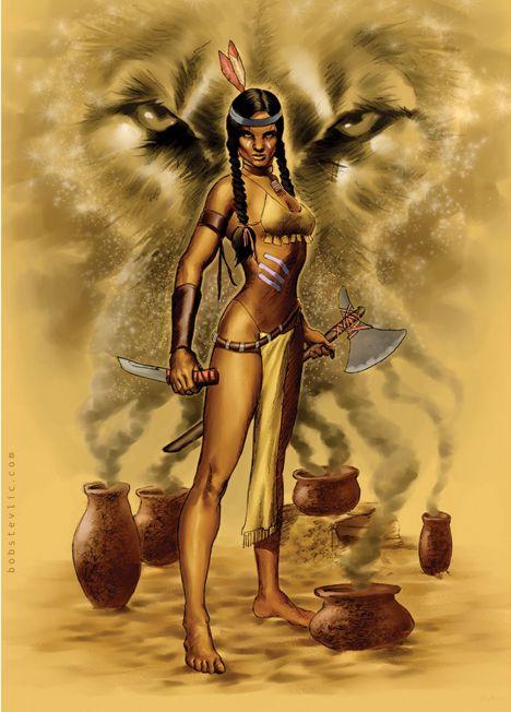 Female Indian Warrior | Indian Animal Spirit Warrior by thestyleofnostyle on deviantART