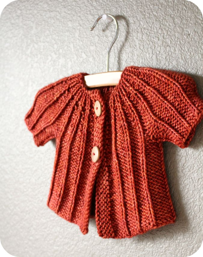 Easy Knitting Pattern For Babies Cardigan : Quick easy baby cardigan with a ravelry pattern