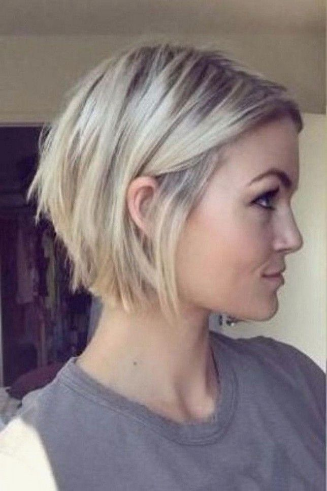 Kurzhaarfrisuren 2018 Damen Eckiges Gesicht Hairstylewomen Cl Kurzhaarfrisuren Frisuren Bob Feines Haar Bob Fur Feines Haar Haarschnitt Bob