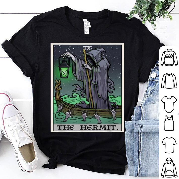 The Hermit Tarot Card Gothic Halloween Grim Reaper Goth Gift Sweatshirt