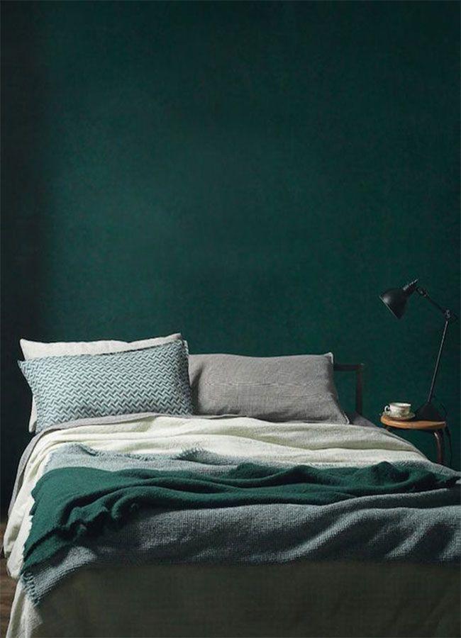 En photos: 15 inspirations pour une belle chambre verte ...