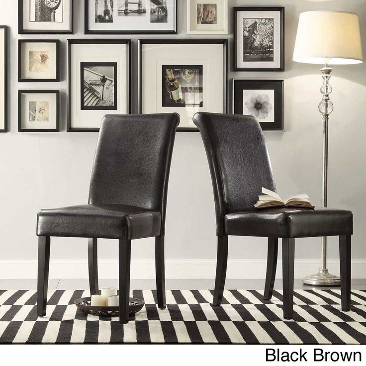 TRIBECCA HOME Dorian Faux Leather Upholstered Dining Chair (Set of 2) - Overstock™ Shopping - Great Deals on Tribecca Home Dining Chairs
