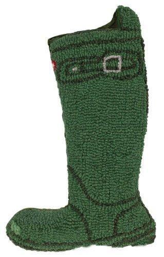 Chander 4 Corners Wellie Style Rain Boot Wool Hooked Needlepoint Christmas Stocking