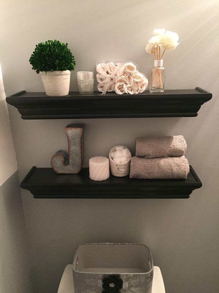 Black shelves above the toilet   – bathroom business – #bathroom #Black #Busines…   – most beautiful shelves