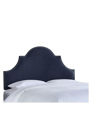 51% OFF Skyline High Arch Nail Button Headboard (Regal Navy)