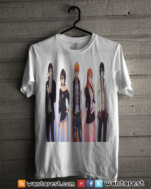 Bleach Anime t-shirts unisex Only $17 ship to worldwide, available size S to 2XL. #Bleach #Orihime #Uryuu #Rukia #Ichigo #Hollow #Anime #Shirt #Otaku #Cosplay #Clothing #Tshirt