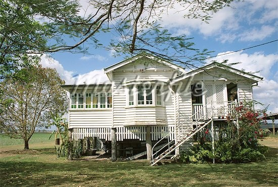 Mackay, Queensland.  Houses on stilts.