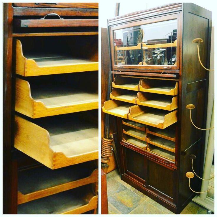 Antique Mahogany Framed Oak Display Cabinet At D And A Binder I Weu0027ve Got