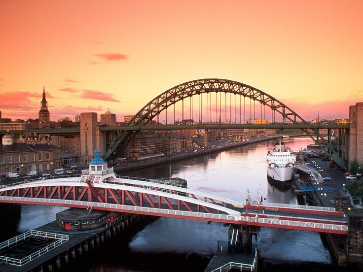 """Tyne Bridges, Newcastle - Coming home by train and seeing this sight every single time, as the train crosses the bridge into the station, gives me that """"home"""" feeling."""