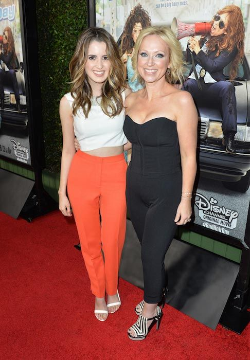 "Laura Marano and Leigh-Allyn Baker at the premiere of Disney Channel Original Movie ""Bad Hair Day"" in February 2015...."