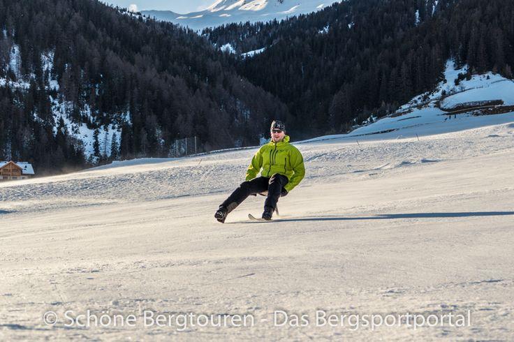 Mit dem Böckl die Skipiste runterdonnern. Eine Mordsgaudi mit über 50 Stundenkilometer Geschwindigkeit - Foto: Mario Hübner