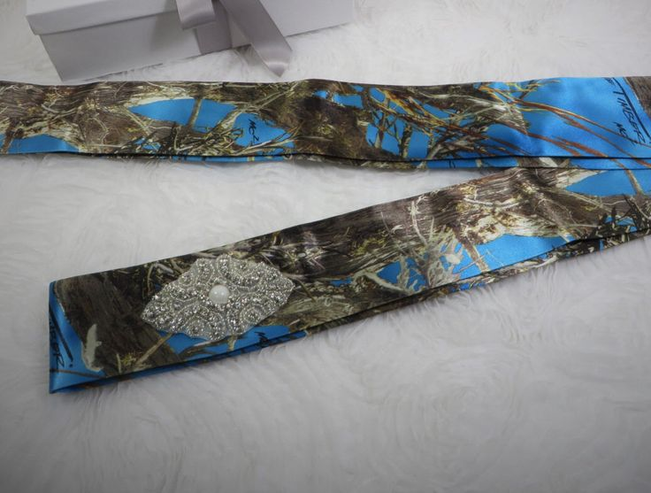 Blue True Timber Camouflage Dress Sash for wedding or prom *AVAILABLE IN MANY CAMO PATTERNS* by- TheMomentWeddingBoutique