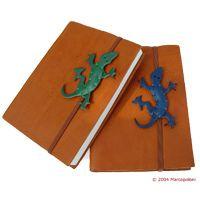 Саламандра зеленый или голубой кожаный Дневник