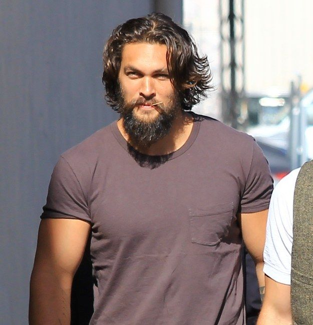 Who doesn't want to be that toothpick? | Just A Quick Reminder That Jason Momoa Is Too Damn Sexy