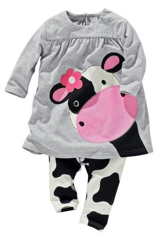 Детские девушки детская одежда моделирование корова одежды 100% хлопок свободного покроя с длинными рукавами футболки + брюки костюм TracksuitATZ039, принадлежащий категории Комплекты одежды и относящийся к Одежда и аксессуары на сайте AliExpress.com | Alibaba Group
