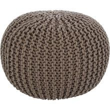 Grey Knitted Bean Bag 35x48cm